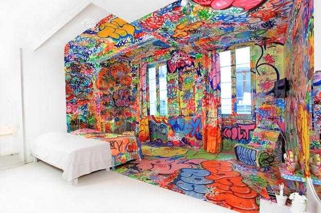 Разноцветная покраска