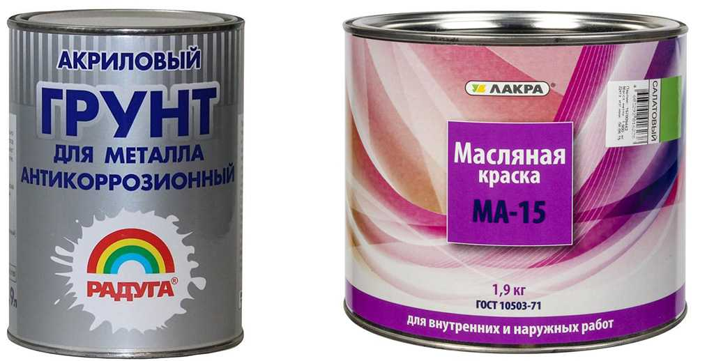 Акриловая и масляная краска по металлу