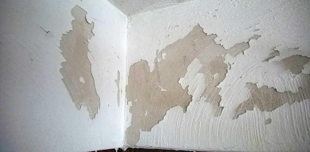 Старая водоэмульсионка на стене