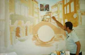 Роспись стены в квартире