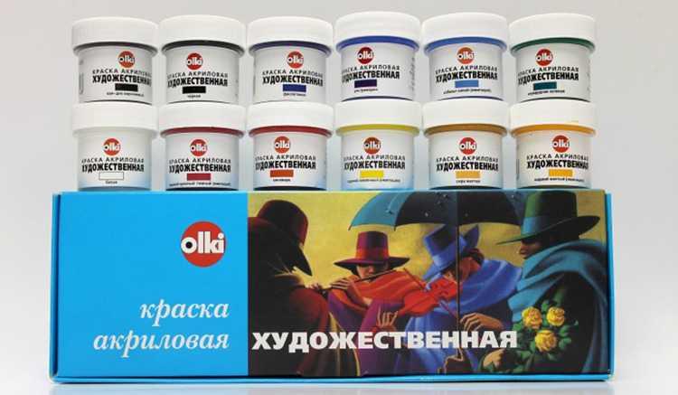 Акриловые краски Olki