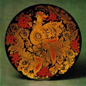 Хохломская роспись красками