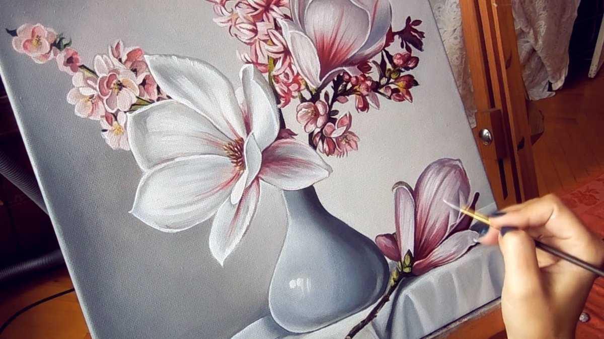 Рисование акриловыми красками