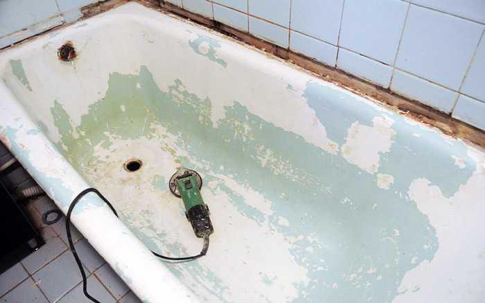 Ванна после зачистки