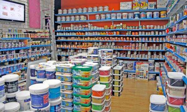 Краска для бетона в магазине