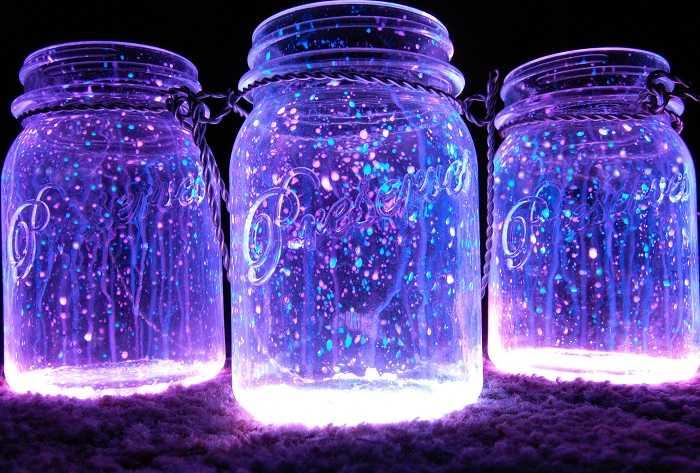 Декор флуоресцентной краской
