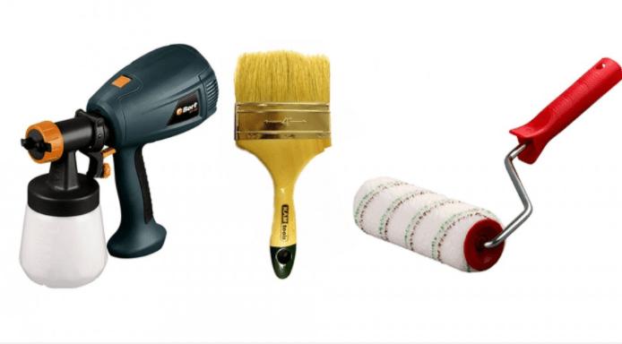 Инструменты для работы с эпоксидной краской.