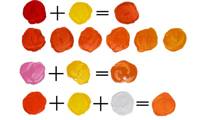 Оранжевый на палитре