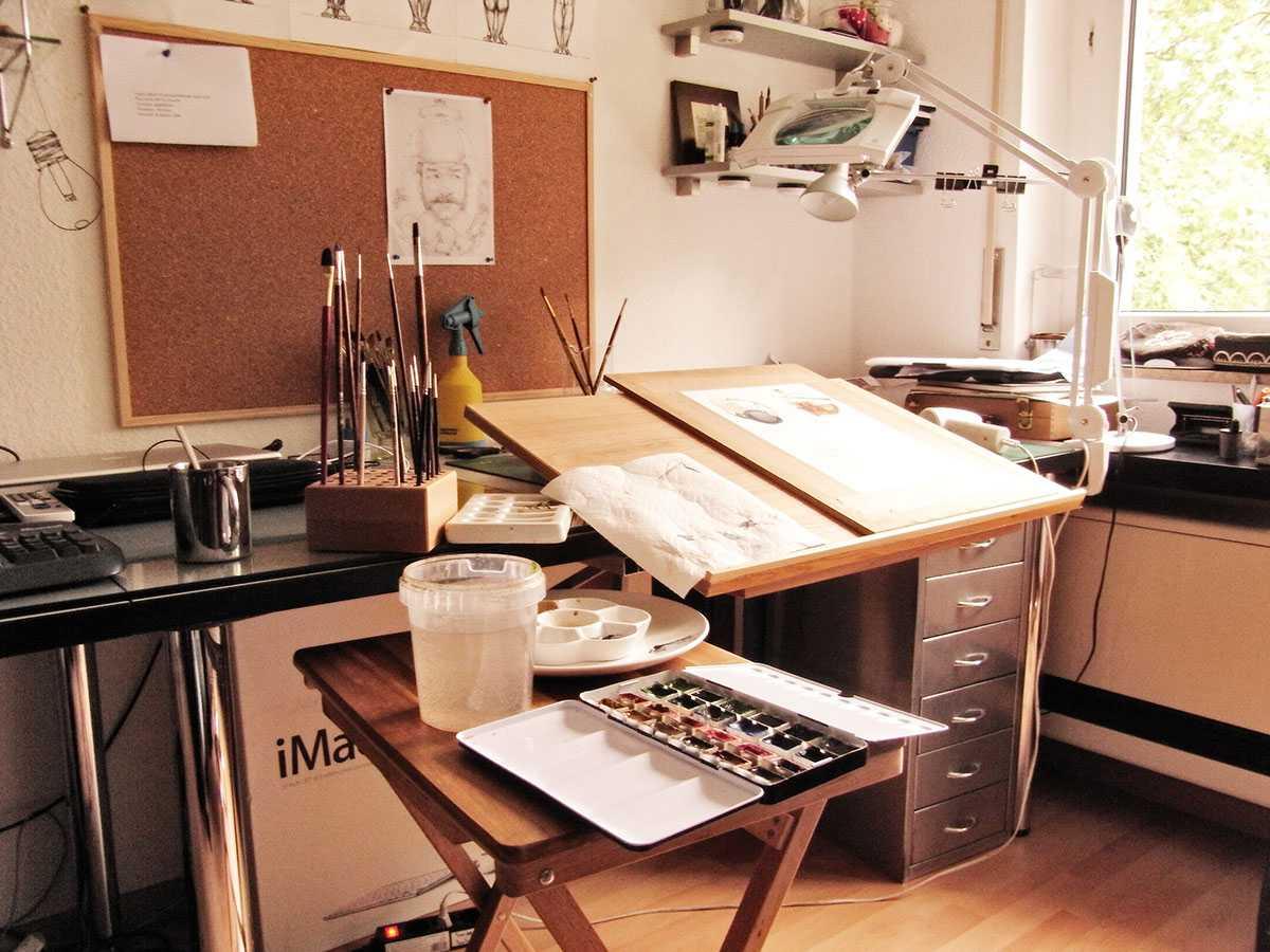 Рабочее место художника