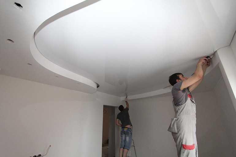 Смывка с натяжного потолка