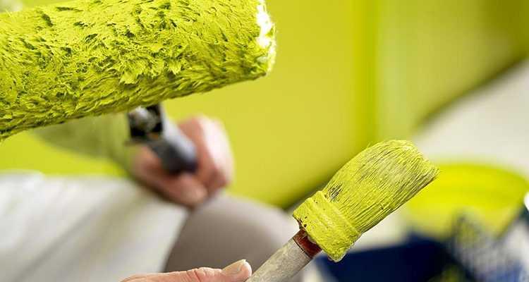 Виды акриловых красок для стен