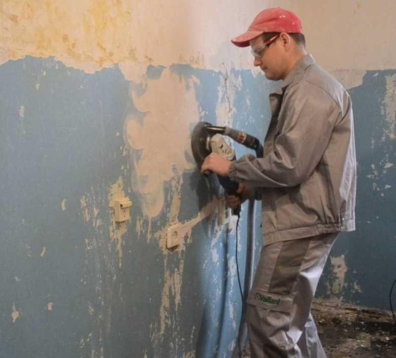 Методы удаления краски со стены