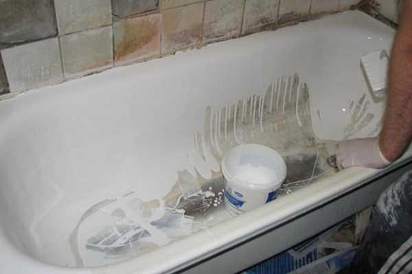 Реставрация старой ванны акрилом