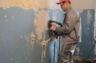 Удаление краски с бетонной стены