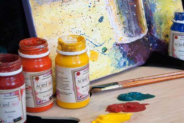 Виды акриловых красок для рисования
