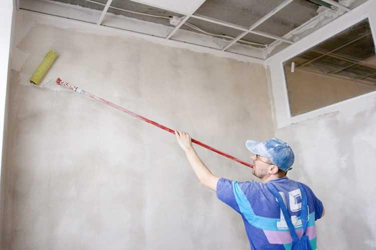 Стены подготовить к покраске