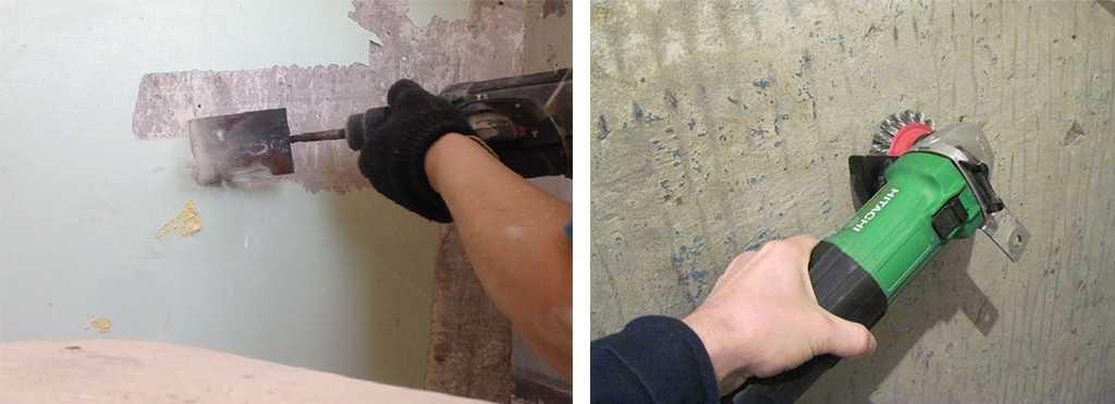 Удаление краски при помощи электроинструмента
