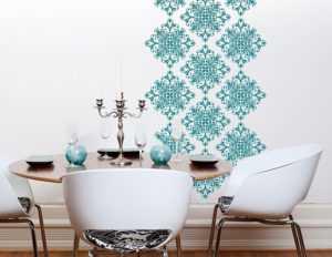 Трафаретные краски для росписи стен