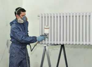 Окраска радиаторов батареи