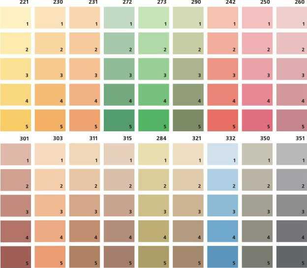 цвета для красок для стен