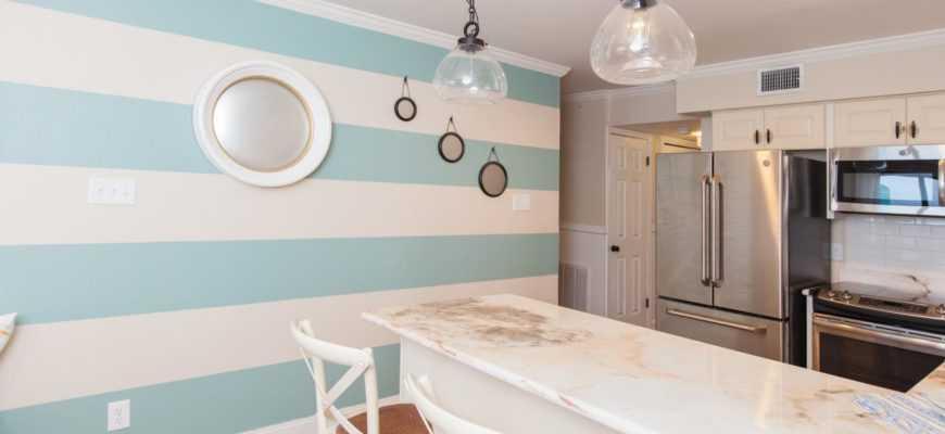 Покрасить стены на кухне