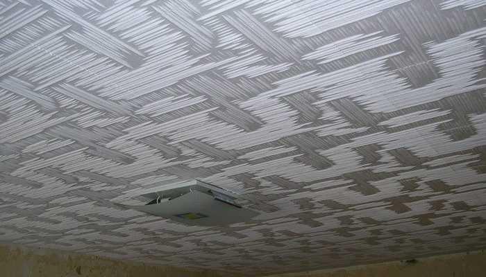Окрашивание потолочной плитки