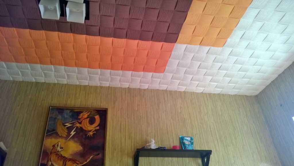 Покраска пенопластовой плитки