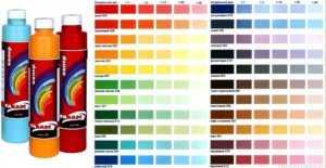 Таблица разбавления краски
