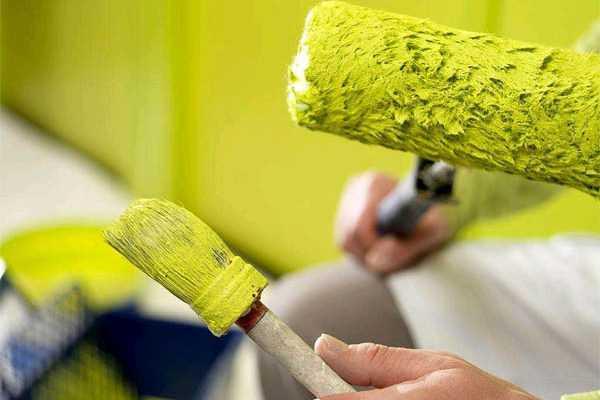 наносить водоэмульсионную краску на водоэмульсионную