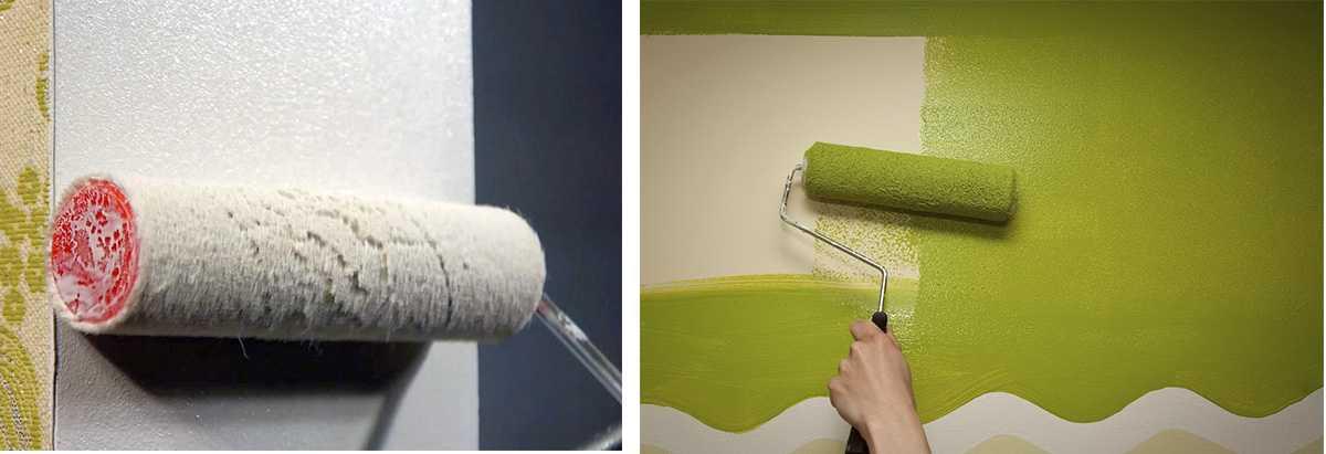 Покрытие стен акриловой краской