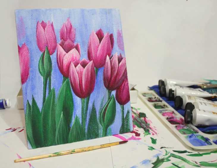 Реалистичные картины с помощью акриловых красок