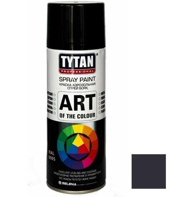 краска аэрозольная черная