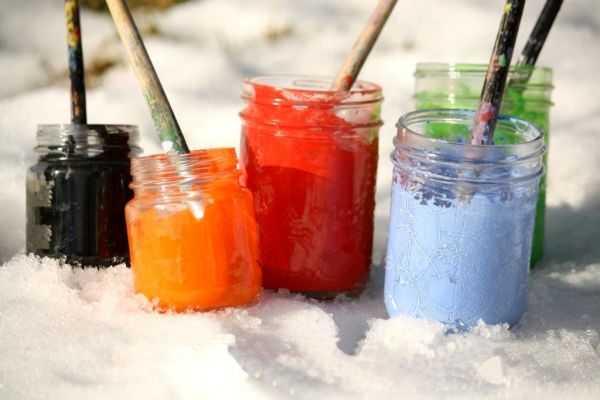 покраска зимой