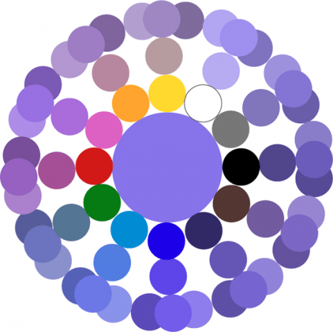 палитра фиолетового