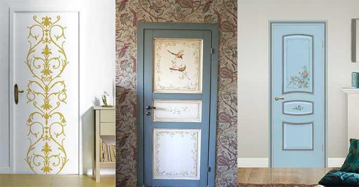 Двери с росписью