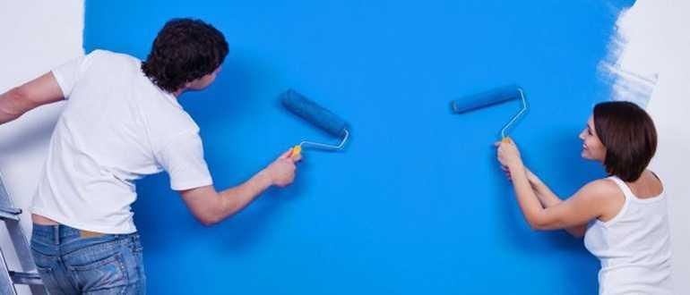 Как правильно красить валиком стены