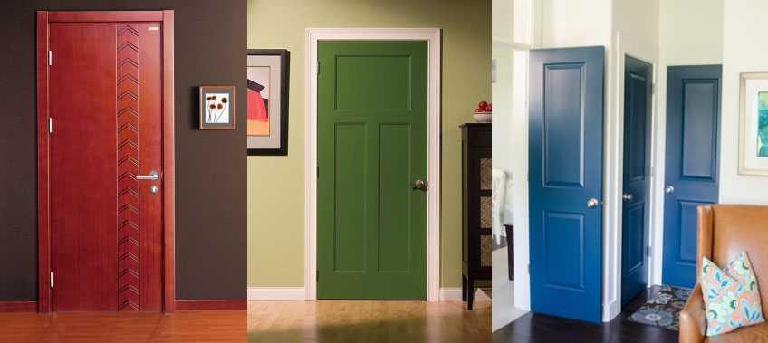 Однотонные двери