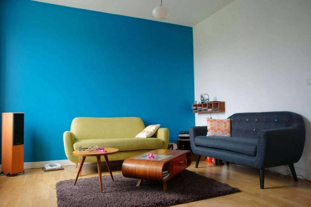 Окрашивание стен в разные цвета