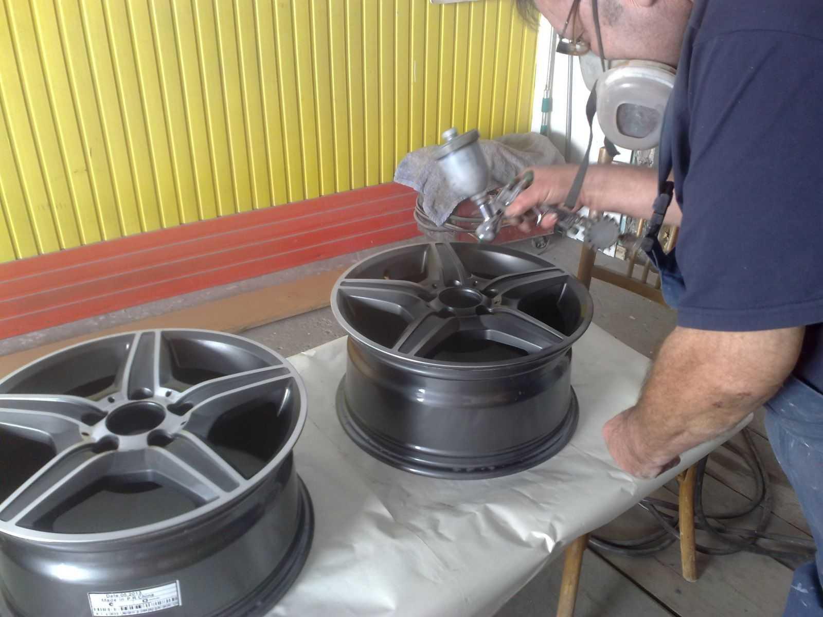 Окрашивание автомобильных дисков