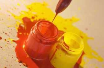 какие смешать краски чтобы получить оранжевый цвет