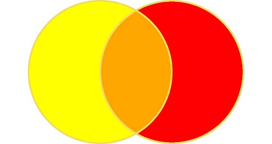 Красный и желтый