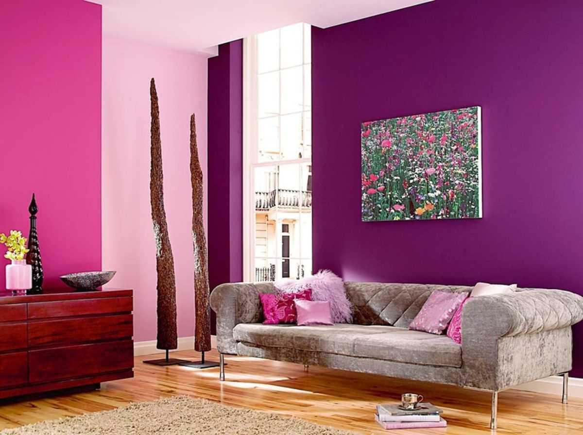 Покраска стен в розовые тона