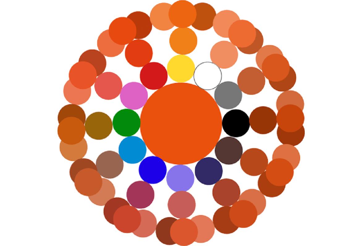 Таблица смешивания краски