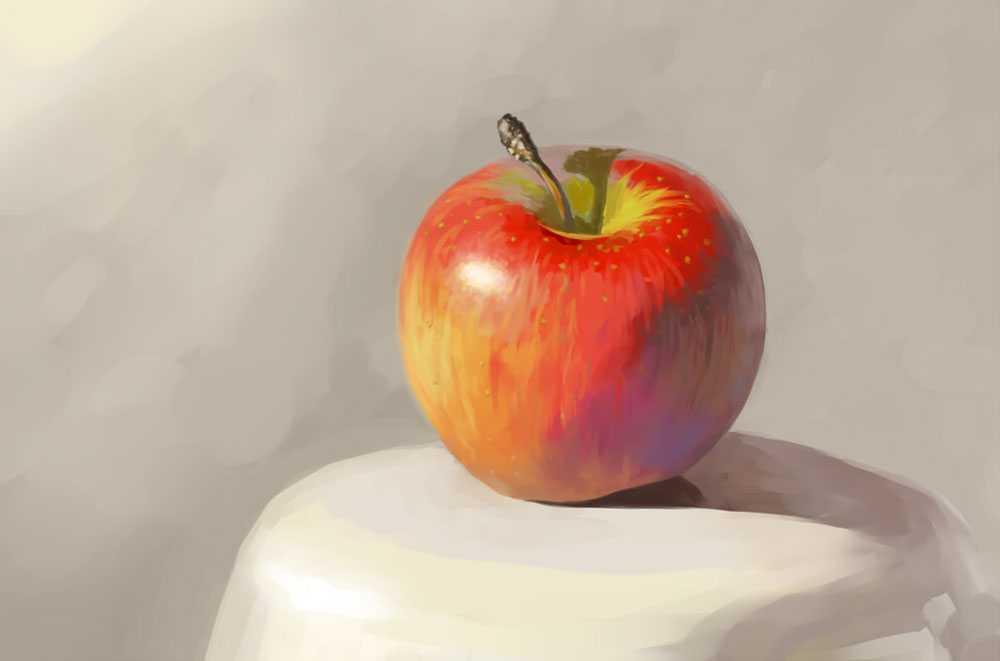 Яблоко светотень