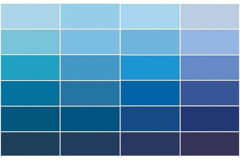 Голубой и синий