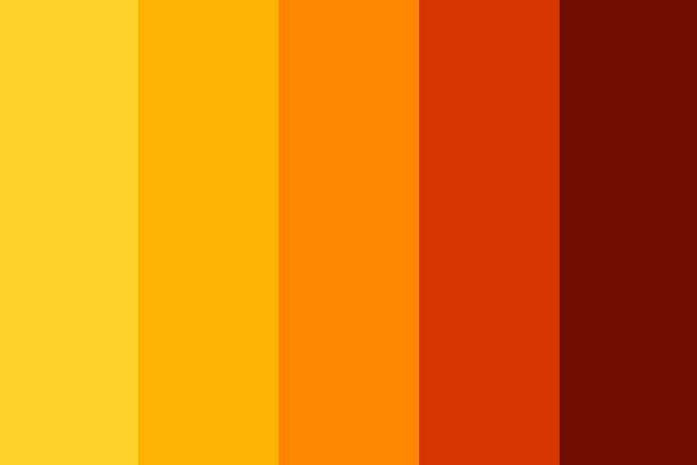 Желтый и оранжевый